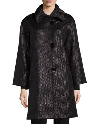 Glazed Chevron Coat, Women's
