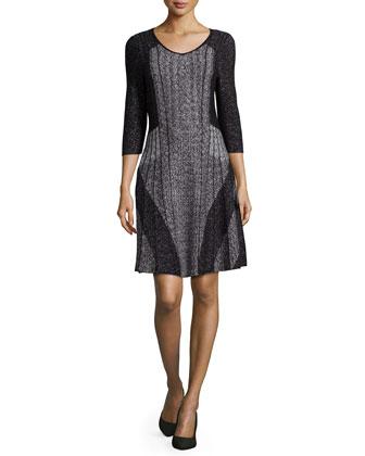 Finale 3/4-Sleeve Twirl Dress