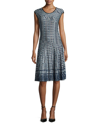 Checked Out Twirl Dress