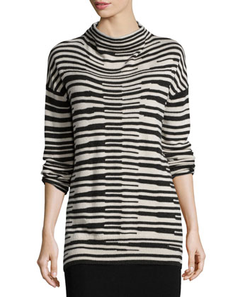 Long-Sleeve Stacked Striped Top