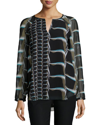 On The Edge Printed Top, Women's