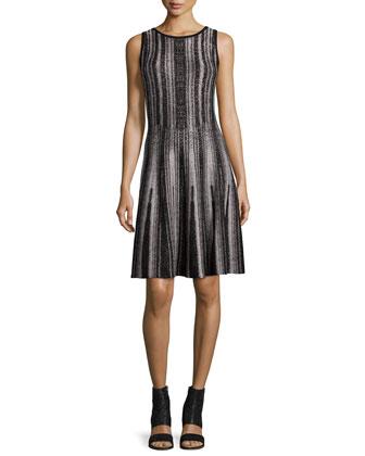 Northern Lights Sleeveless Twirl Dress, Petite