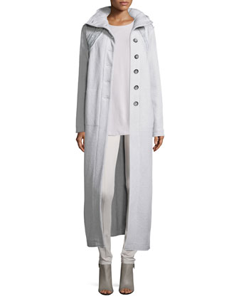 Rich-Stitch Wool Maxi Coat, Women's