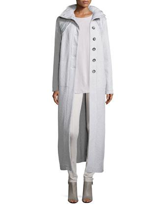 Rich-Stitch Wool Maxi Coat, Perfect Layer Sleeveless Top & Perfect Ponte ...