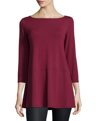 3/4-Sleeve Jersey Tunic, Women's