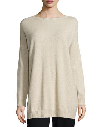 Undyed Cashmere Long Tunic