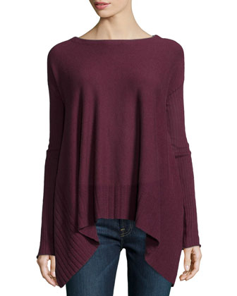 Cashmere Long-Sleeve Twelve-Gauge Sweater