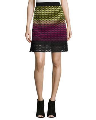 Gradient Fan Knit Skirt