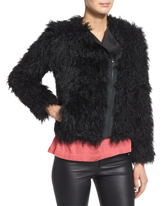 Vianna Faux-Fur Zip Jacket, Pharly Leather Deluxe Pants & Scotty Plaid ...