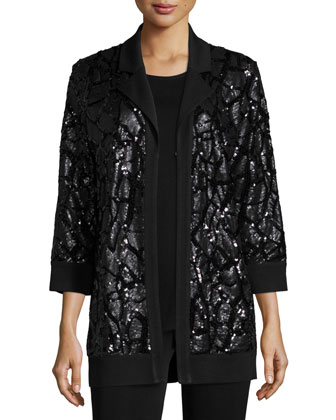 Sequined Open Jacket, Women's