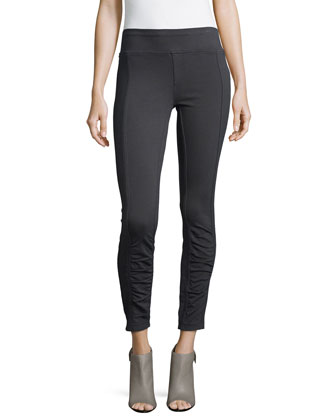 Benatar Ruched Ankle Ponte Leggings, Women's