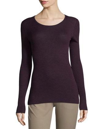 Mirzi Long-Sleeve Ribbed Sweater