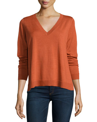 Merino V-Neck Box Top