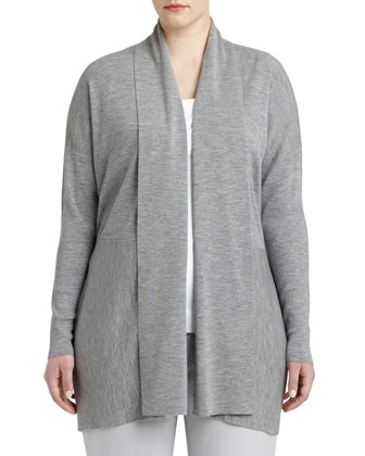 Shawl-Collar Wool Cardigan, Women's