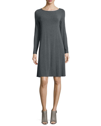 Long-Sleeve Cozy Jersey Dress