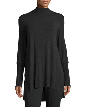 Cozy Stretch Skinny-Sleeve Tunic, Women's