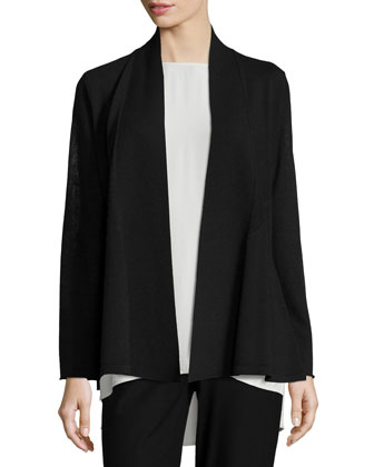 Washable Wool Crepe Cardigan, Women's