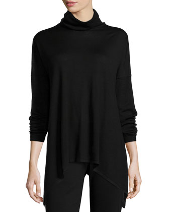 Long Merino Turtleneck Top, Women's