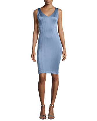 Pia Sleeveless Cocktail Sheath Dress