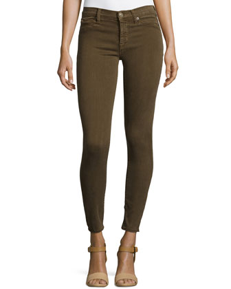 Nico Mid-Rise Skinny Jeans, Incognito Green