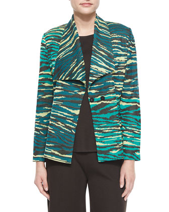 Textured Printed Jacket, Women's