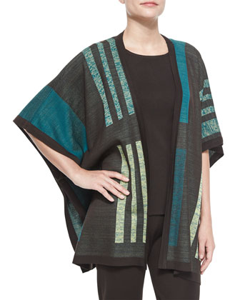 Multi-Pattern Cape Jacket, Women's