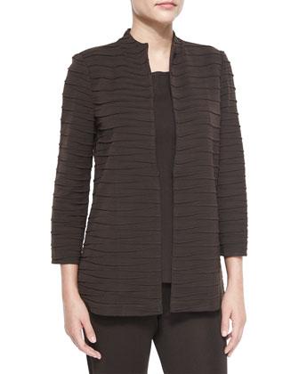 3/4-Sleeve Sliced Jacket