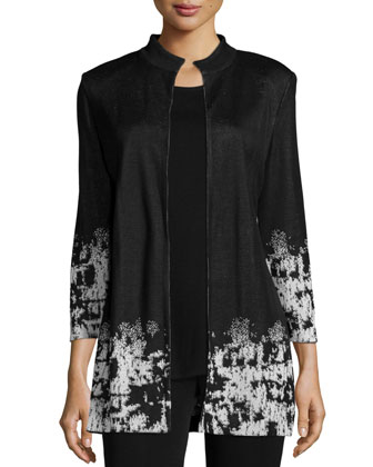 Splatter-Print Open Jacket, Women's