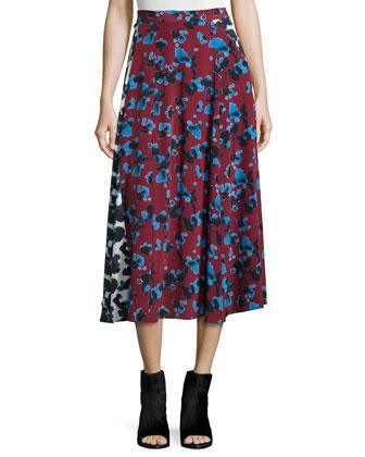 Jackson Ink Spot Midi Skirt, Red/White