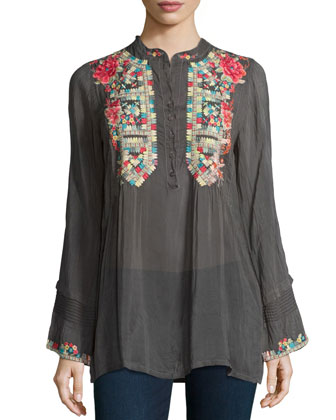 Eleanor Embroidered Tunic, Women's