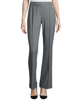 Bailee Flared Flannel Pants