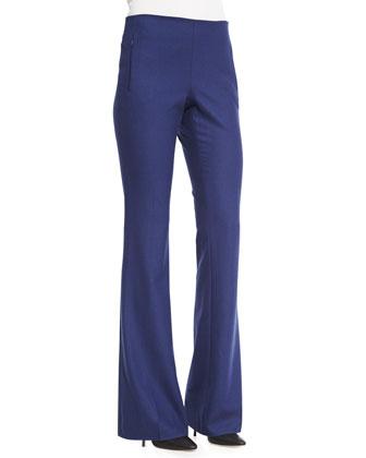 Louisa Coat W/Contrast Trim, Karina Fur Vest W/Leather Trim & Marg ...