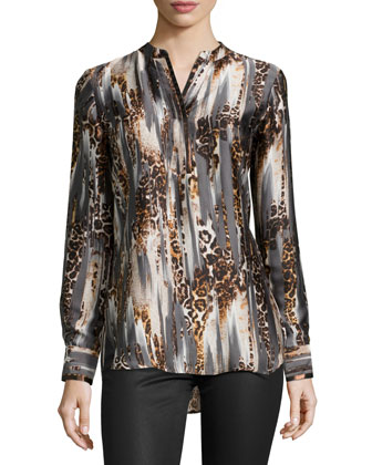 Malayne Animal-Print Tunic