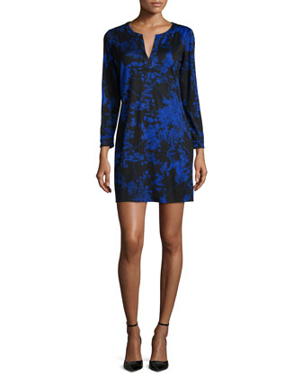 Raye Silk Floral Daze Sheath Dress, Blue