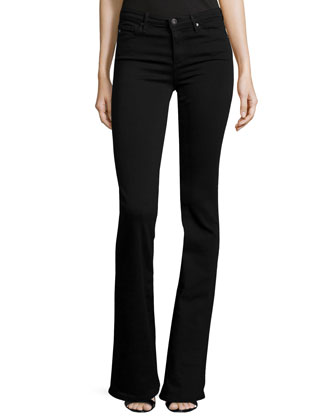 Angel Super Boot-Cut Jeans, Black