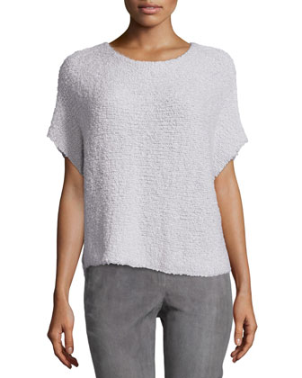 Round-Neck Short-Sleeve Pullover Top