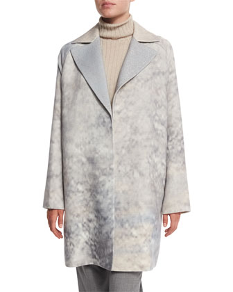 Wallace Oversize Mid-Length Coat, Mock Ribbed Cashmere Sweater & Barrow ...