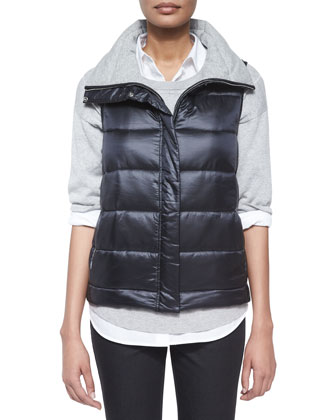 Leo Reversible Vest, Grid-Stitch 3/4-Sleeve Sweater, Brody Long-Sleeve ...