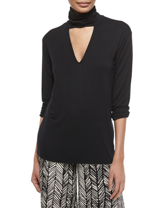 Marla Cutout Turtleneck Top
