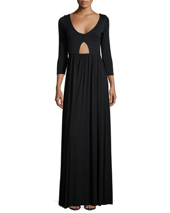 Dakota 3/4-Sleeve Cutout Dress, Women's