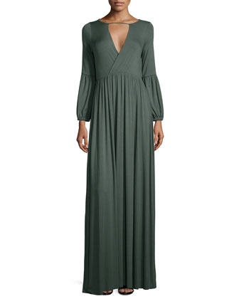 Ashland V-Cutout Jersey Maxi Dress, Women's