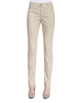 Slim-Leg Jeans, Khaki