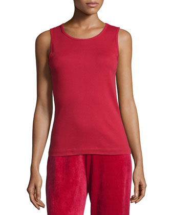 Cotton Ribbed Tank Top, Women's