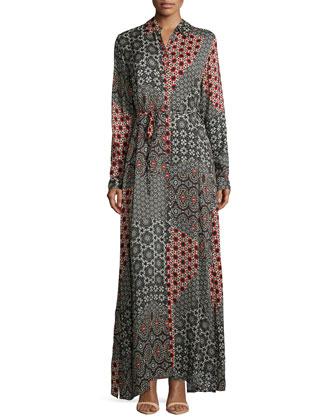 Animalia Long-Sleeve Maxi Dress