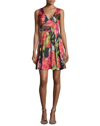 Floral-Print Party Dress