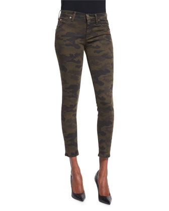 Lilly Skinny Cropped Pants, Combat Camo