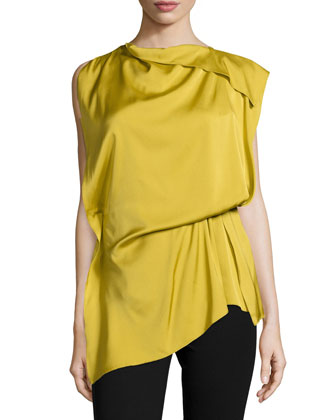 Natalia Sleeveless Draped Blouse