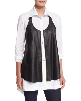 Upstage Perforated Leather Vest, Women's