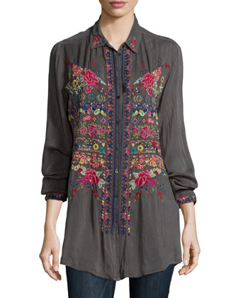 Talin Embroidered Blouse, Petite