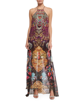 Milagro Charm Mixed-Print Maxi Dress